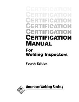 aws cm 2000 rh techstreet com certified welding inspector manual welding inspection checklist manual