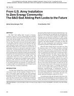 NY-14-016 -- From US Army Installation to Zero Energy Community: The ...