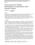 2952 -- Calculations on Thermal Performance of Mechanical