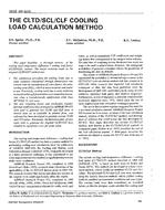 3638 (RP-626) -- The CLTD/SCL/CLF Cooling Load Calculation