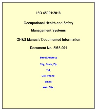 Iso 45001 Manual Free Download