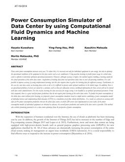 AT-19-C014 -- Power Consumption Simulator of Data Center by